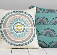 I so love this beautiful design by Sian Elin Thomas. Gorgeous colour palette. Image via print & pattern