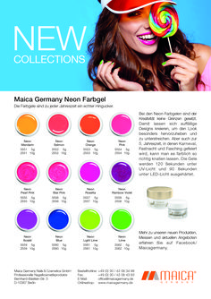 NEW COLLECTIONS UV-Farbgel Maica Germany Neon Kollektion Neon, Germany, Cosmetics, Collections, Seasons, Neon Tetra, Beauty Products, Deutsch, Drugstore Makeup