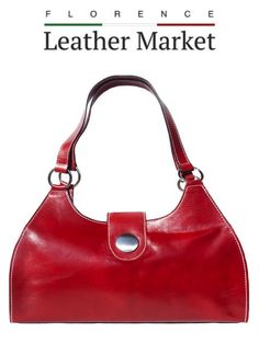 Florence Italy, Italian Leather, Longchamp, Leather Handbags, Fashion Accessories, Tote Bag, Red, Handmade, Stuff To Buy