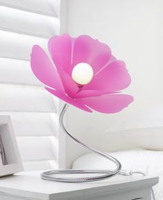Magnolia Table Lamp Fuschia Pink