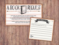POW WOW Baby Shower book request ticket Teepee Baby by LyonsPrints