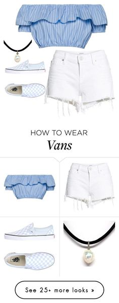 """""""T^K= M="""" by singingloud on Polyvore featuring Hudson Jeans and Vans"""