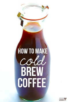 How To Make Cold Brew Coffee: a step-by-step photo tutorial and recipe