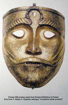 Persian helmet face plate