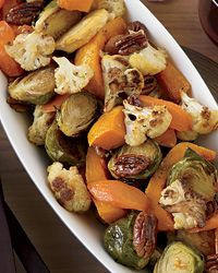 Maple-Ginger-Roasted Vegetables with Pecans Recipe from Food & Wine