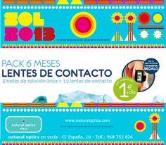 Natural optics en Yecla te ofrece por la compra pack 6 meses de lentes de contacto un brazalete de regalo !!!
