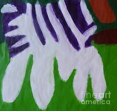 Acrylic Print featuring the painting Zebra 2014 by Patrick Francis Framed Prints, Canvas Prints, Art Prints, Greeting Cards, Kids Rugs, Tapestry, Artist, Artwork, Posters