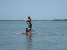 Paddleboarding with Child - Photo © by George E. Sayour