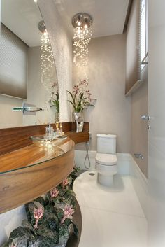 Did you know that the Bathroom Countertops or toilet is one of the main items of decoration to enhance and define the style of your environment? Wc Decoration, Decoration Bedroom, Toilet Design, Bathroom Countertops, Contemporary Bathrooms, Bathroom Interior, Amazing Bathrooms, Home Interior Design, Decor Styles