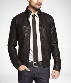 Get a Formal look with bomber jacket by wearing it with a shirt & tie.  Also learn other 3 Ways to Style Your Bomber Jackets — Mens Fashion Blog - The Unstitchd