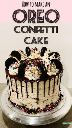 Cake Decorating Frosting, Cake Decorating Designs, Cake Decorating Videos, Cake Decorating Techniques, Birthday Cake Decorating, Easy Cake Designs, Oreo Cake Recipes, Dessert Recipes, Delicious Desserts