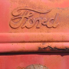 Rusty Ford tractor