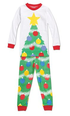 From CWDkids: Christmas Tree Pajamas Family Pjs, Family Christmas Pajamas, Kids Christmas, Boy Or Girl, Baby Boy, Christmas Onesie, Elves, Beast, Onesies