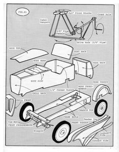 (Page : The Pub (Off Topic) : CycleKart Forum : The CycleKar… Pedal car plans. (Page : The Pub (Off Topic) : CycleKart Forum : The CycleKart Club Soap Box Cars, Soap Boxes, Soap Box Derby Cars, Wooden Car, Wooden Toys, Wooden Go Kart, Cycle Kart, Go Kart Plans, Pedal Cars