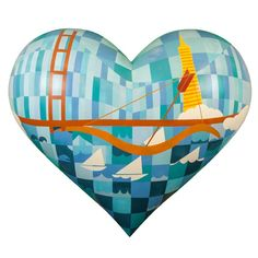 2013 Hearts - San Francisco General Hospital Foundation - 2013-Large: Judity Lippe - City by the Bay
