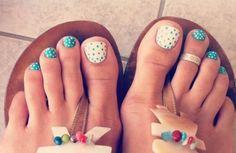 Precious painted piggies! Painted toenails - pedicure - toenail art