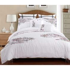Lily 7-piece Duvet Cover Set - Overstock™ Shopping - Great Deals on Duvet Covers