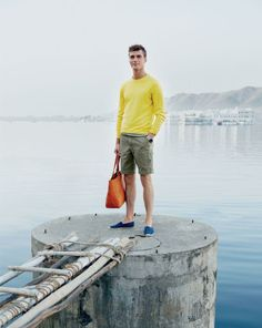J.Crew men's cashmere crewneck sweater. To preorder call 800 261 7422 or email erica@jcrew.com.