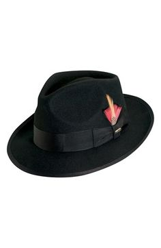 Scala  Classico  Wool Felt Snap Brim Hat available at  Nordstrom Fedora Hat 06da5ec6f58b