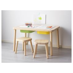 FLISAT Children's table, 32 At IKEA, we love to develop products that can be used together in a smart way. That's why TROFAST storage boxes fit under the top of the table. Kids Art Table, Play Table, Kid Table, Lego Table, Small Kids Table, Playroom Table, Table Ikea, Kids Storage, Storage Boxes