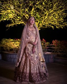 Favourite 2018 Bridal Lehengas And Some Unique Colours To Take Note Of Gold sequins Sabyasachi wedding lehenga. Indian Bridal Outfits, Indian Bridal Fashion, Indian Bridal Wear, Indian Dresses, Bridal Dresses, Indian Wear, Indian Clothes, Sabyasachi Wedding Lehenga, Indian Bridal Lehenga