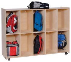 Steffywood Home Kids Mobile Cubby Hook Lockers Bookbag Storage Cabinet Shelf contemporary-display-and-wall-shelves