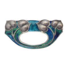 Murrle Bennett Art Nouveau Arts Crafts Liberty Co Silver Enamel Brooch | eBay