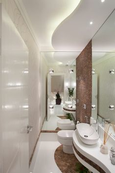 use of curves gives the bathroom a sensuous flow and warmth Beautiful Bathrooms, Modern Bathroom, Small Bathroom, Master Bathroom, Bathroom Design Inspiration, Bad Inspiration, Bathroom Interior Design, Wc Design, House Design
