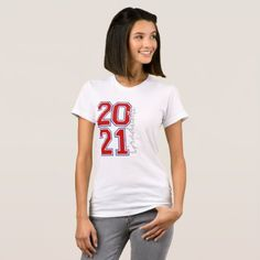 2021 Graduate Red and Blue Block T-Shirt Blue Block, Graduation Shirts, American Apparel, Red And Blue, Heather Grey, Fitness Models, Tees, Sweaters, How To Wear