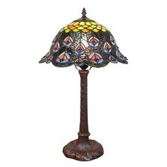 Big collection of Tiffany lamps Dragonfly, butterflies and table lamps.Peacock Tiffany lampPeacock Tiffany Lamp - Ideas on Foter(Notitle) Tiffany peacock lamp Tiffany Louis Comfort Tiffany, Applique Art Deco, Desk Lamp, Table Lamp, Tiffany Lamps, Chandeliers, Art Deco Lighting, Peacock, Glass