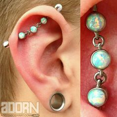 Industrial piercing by Seth Dietz of Adorn Body Art. Jewelry by Industrial Strength.