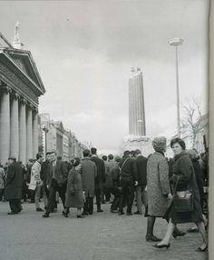 Nelson Pillar blown up 1966 Dublin Street, Dublin City, Emerald Isle, Dublin Ireland, Vietnam War, Old Photos, New York Skyline, Street View, In This Moment