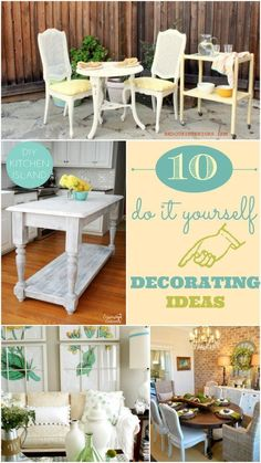 10 Do It Yourself Decorating Ideas. Practical tutorials by bloggers that are easy to follow.