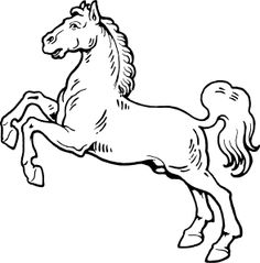 Walking Horse Outline clip art | Tattoos | Pinterest | Walking ...