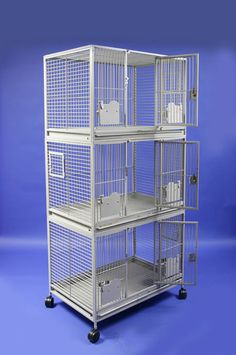 triple stacker bird cage with key locks