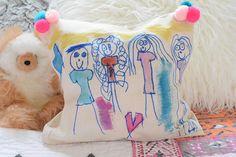 family portrait pillows