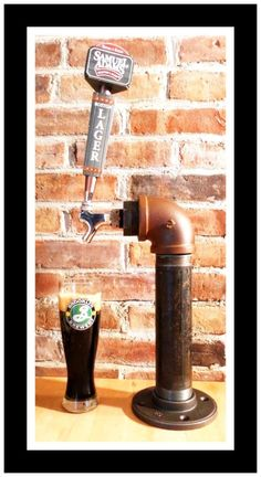 "Decor Facelift ""Thirsty Thursday"": VINTAGE IRON PIPE CUSTOM INDUSTRIAL BEER TAP..."