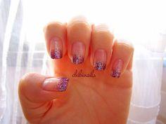 Diva glitter nails!