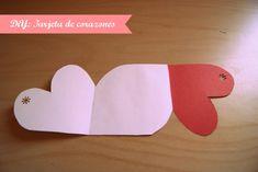 tarjeta corazones diy Tarjetas Diy, Silicone Molds, Birthday, Bb, Easy Cards, Love Gifts, Valentines, Tuesday, February