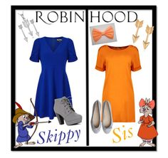 """Skippy & Sis From Robin Hood"" by skykitten14 ❤ liked on Polyvore featuring Miss Selfridge, Journee Collection, Boohoo and Retrò"