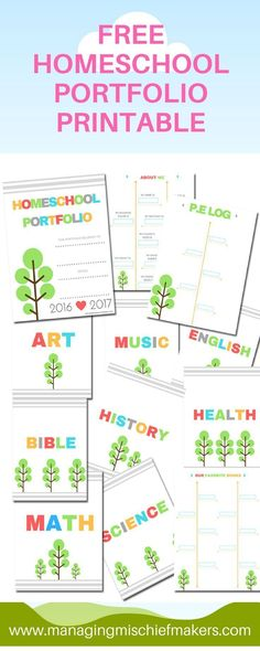 Tips for creating your homeschool portfolio along with a free printable. Spanish Lessons For Kids, Learning Spanish For Kids, Early Learning, Montessori, Starting A Daycare, Free Teaching Resources, School Resources, Teacher Resources, School Plan