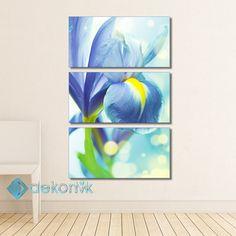 Floral Blue Tablo I #parçalı_kanvas_tablolar