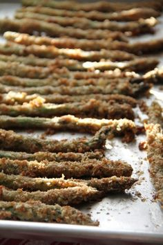 My mother-in-law loves to make asparagus this way and it's a huge hit with everyone in our family. The asparagus gently roasts and stays moist, while the panko breading turns golden and crispy.