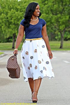 Curves and Confidence | A Miami Style Blogger: Work Wear Staple: The Midi Skirt