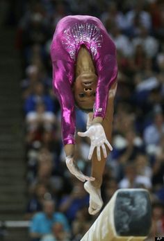 Feats of flesh: U. gymnast Gabrielle Douglas performs on the balance beam during the artistic gymnastics women's individual all-around competition at the 2012 Summer Olympics, Thursday, Aug. in London. Gymnastics Quotes, Sport Gymnastics, Artistic Gymnastics, Olympic Gymnastics, Olympic Sports, Olympic Athletes, Rhythmic Gymnastics, Olympic Games, Gymnastics Posters