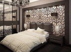 Bedroom design - 65 Inspiring Ideas For The Wall Behind Bed Bedroom False Ceiling Design, Modern Bedroom Design, Master Bedroom Design, Bedroom Wall, Bedroom Decor, Interior Design Living Room, Living Room Designs, Wall Behind Bed, Dream Rooms