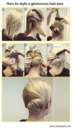 Glamotous hair bun