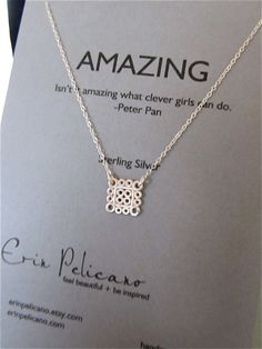Graduation . Amazing Necklace . Clever Girls . Inspirational Jewelry . Simple Delicate Jewelry via Etsy