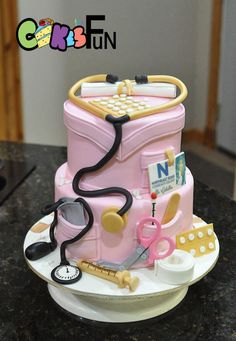 Nursing School Graduate Cake - Cake by Cakes For Fun