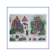 carta di riso per decoupage  35x50 casa inglese